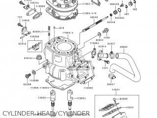 Cylinder-engine Kx250-h2 1991 Europe Uk Al As 110051643