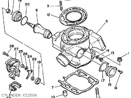 Plate, Thrust 1 Yz250n 1985 56A1191500