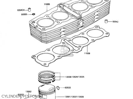(11060-1828) Cylinder Base Gasket 1982 Kz1100-d1 Spectre