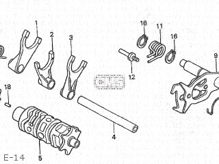 SPG,SHIFT DRUM ST for CB400SS 2004 (4) JAPAN NC41-130.131