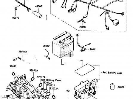WIRE-LEAD,BATTERY(+) for KLF300-A2 BAYOU300 1987 UNITED