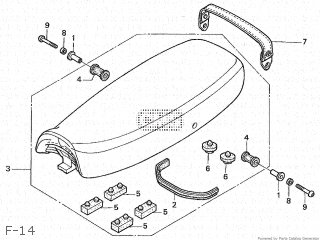 SEAT ASSY,DOUBLE (JDM) for CB400SS 2004 (4) JAPAN NC41-130