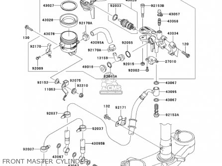 CYLINDER-ASSY-MASTER, for ZX636D6F ZX6R 2006 USA