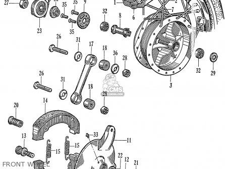 RIM FRONT WHEEL for C72 1960 1961 1962II 1963 DREAM