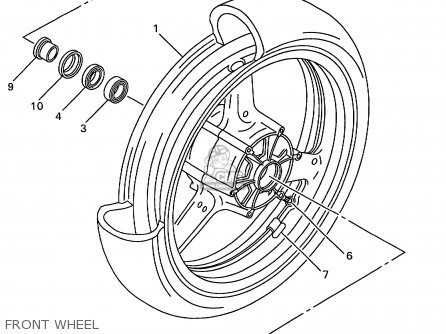 CAST WHEEL, FRONT for YZF-R6 1999 5EB1 ITALY 195EB-300E3
