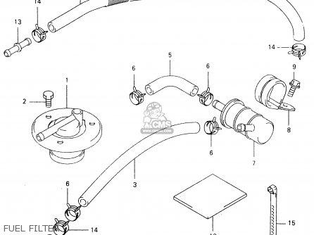 4443210F00 (4444538b00) Hose,fuel Tank & Filter Suzuki