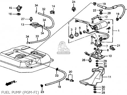 BRACKET,FUEL PUMP, fits CRX 1986 (G) 2DR SI (KA,KL