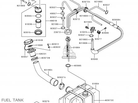 Pipe-comp,fuel Js550-c3 Jetski550sx 1993 Usa Canada 310643719