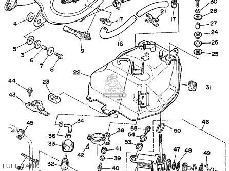 Fuel Tank Comp. Xv535 Virago 1993 (p) Usa 3JB241100133