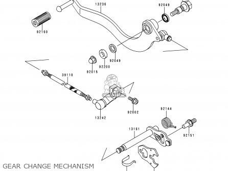 LEVER-COMP-CHANGE SHA for BN125A4 ELIMINATOR 2001 USA