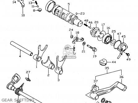 (2561703f10) Shaft,gear Shift Lever Dl650 Vstrom 2004 (k4