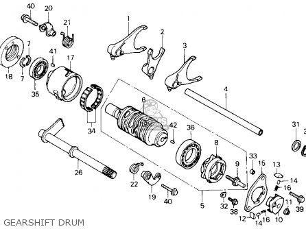 SPRING,SHIFT DRUM, fits TRX300 FOURTRAX 300 1995 (S) USA