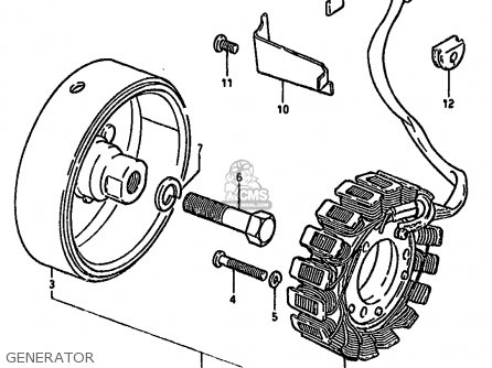 ROTOR ASSEMBLY for GS500E 1981 (X) GENERAL EXPORT (E01