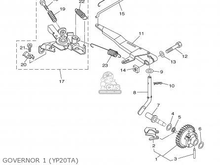 (7cne192200) Fork, Governor Ef1000 7fl1 Generator 7NJ1192200