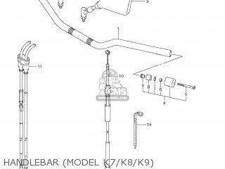 HANDLEBAR for DR-Z400SM 2005 (K5) USA (E03) DRZ400SM DR