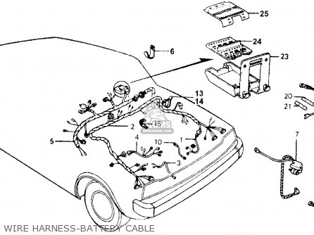 Honda ACCORD 1976 3DR STD (KA) parts lists and schematics