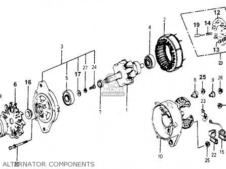 Honda Accord 1977 3dr Std (kh,ka,kl) parts list