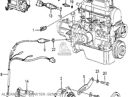 Honda Accord 1979 4dr Dx (ka,kh,kl) parts list partsmanual