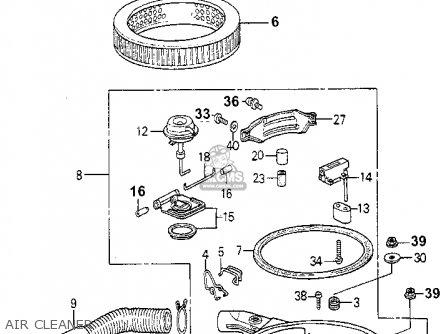 Honda ACCORD 1980 (A) 3DR STD (KL,KA,KH) parts lists and