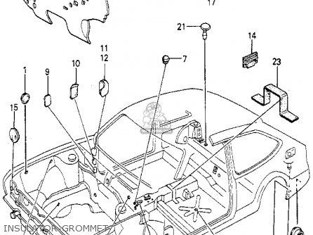 Honda Accord 1980 (a) 3dr Std (kl,ka,kh) parts list