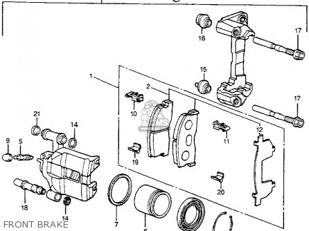 Honda ACCORD 1982 (C) 3DR DX (KL,KA,KH) parts lists and