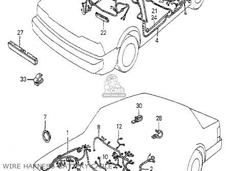 Honda ACCORD 1982 (C) 4DR DX (KL,KA,KH) parts lists and