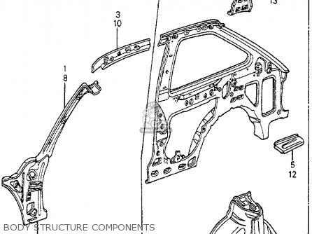Honda Accord 1983 (d) 3dr Dx (kl,ka,kh) parts list