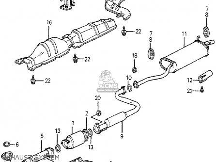 Honda ACCORD 1983 (D) 3DR DX (KL,KA,KH) parts lists and