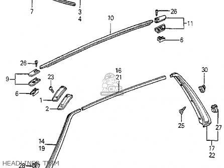 Honda Accord 1983 (d) 3dr Lx (kl,ka,kh) parts list