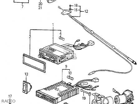 Honda ACCORD 1983 (D) 3DR LX (KL,KA,KH) parts lists and