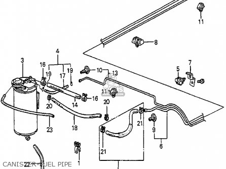 Honda Accord 1984 4dr Lx (ka) parts list partsmanual