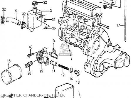 Honda Accord 1985 4dr Std (ka) parts list partsmanual