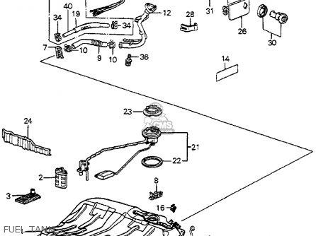 Honda ACCORD 1985 (F) 4DR LX (KA,KH,KL) parts lists and