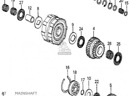 Honda Accord 1985 (f) 4dr Sei (ka) parts list partsmanual