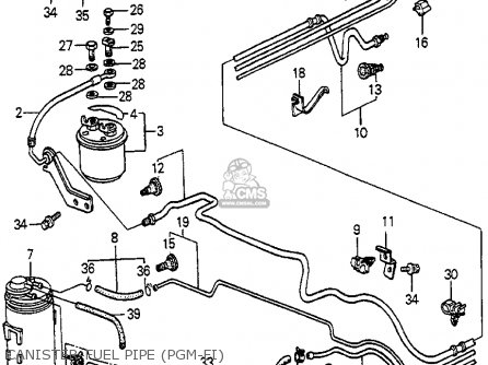 Honda Accord 1985 (f) 4dr Sei (ka) parts list partsmanual