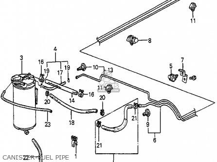 Honda Accord 1985 (f) 4dr Std (ka) parts list partsmanual