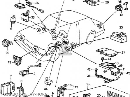 Honda Accord 1985 (f) 4dr Std (ka) parts list partsmanual