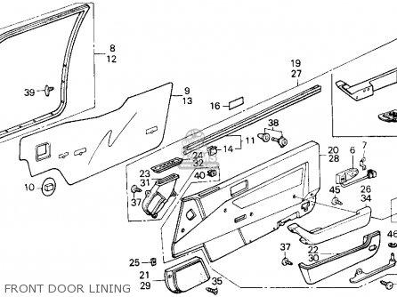 Honda Accord 1986 3dr Lxi Non-passive (ka) parts list