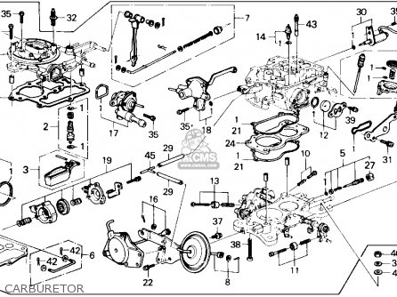 Honda Accord 1986 4dr Dx (ka) parts list partsmanual