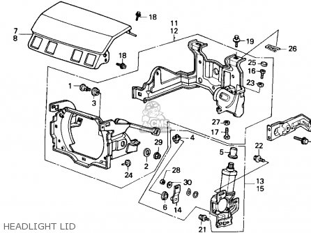 Honda Accord 1986 4dr Lxi (ka) parts list partsmanual