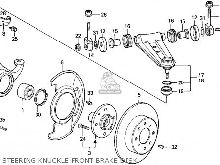 Honda ACCORD 1986 (G) 3DR DX NON-PASSIVE (KA) parts lists
