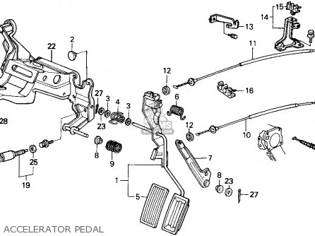 Honda Accord 1986 (g) 4dr Dx (ka) parts list partsmanual