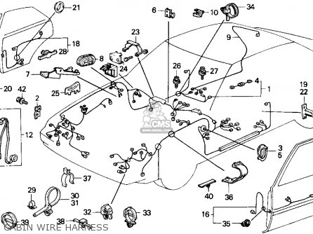 Honda ACCORD 1986 (G) 4DR DX (KA) parts lists and schematics