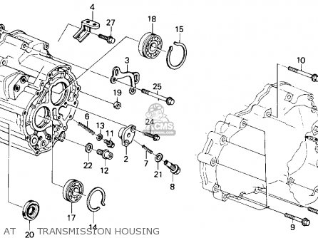 Honda Accord 1986 (g) 4dr Lxi (ka) parts list partsmanual