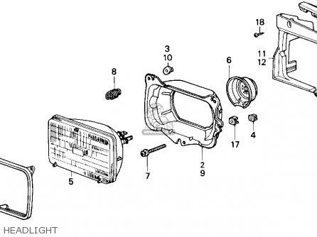 Honda Accord 1987 3dr Lxi (ka) parts list partsmanual