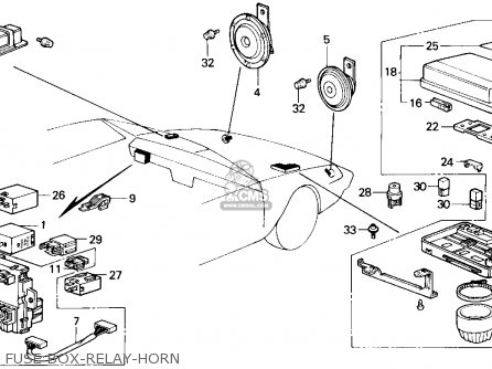 Honda Accord 1987 4dr Dx (ka) parts list partsmanual