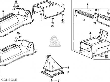 Honda Accord 1987 4dr Lx (ka,kl) parts list partsmanual
