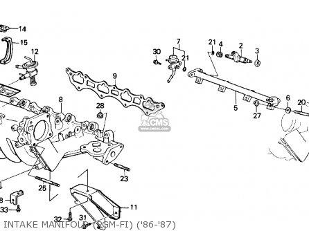 Honda Accord 1987 4dr Lxi (ka) parts list partsmanual