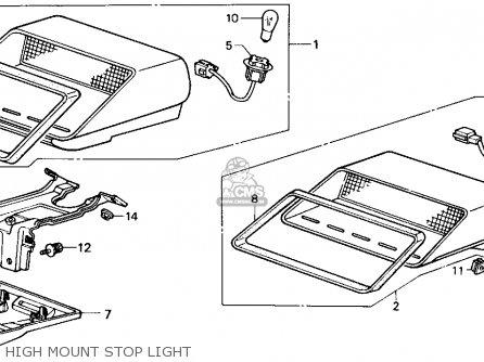 Honda Accord 1987 (h) 3dr Lxi Non-passive (ka,kl) parts