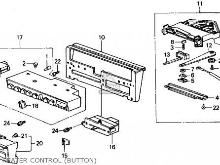 Honda ACCORD 1987 (H) 4DR LX (KA,KL) parts lists and